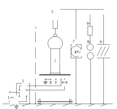 超轻型试验变压器耐压试验接线示意图-科电中威电气
